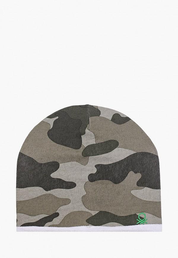 шапка united colors of benetton для мальчика, хаки