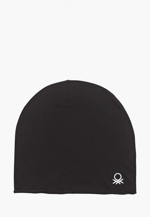шапка united colors of benetton для мальчика, черная