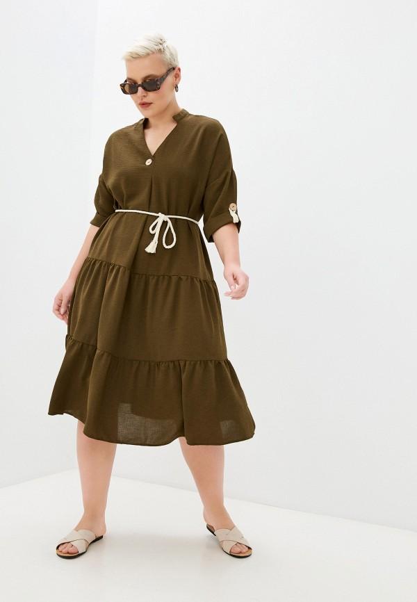 женское повседневные платье hey look, хаки
