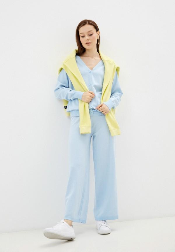 женский вязаные костюм moki, голубой