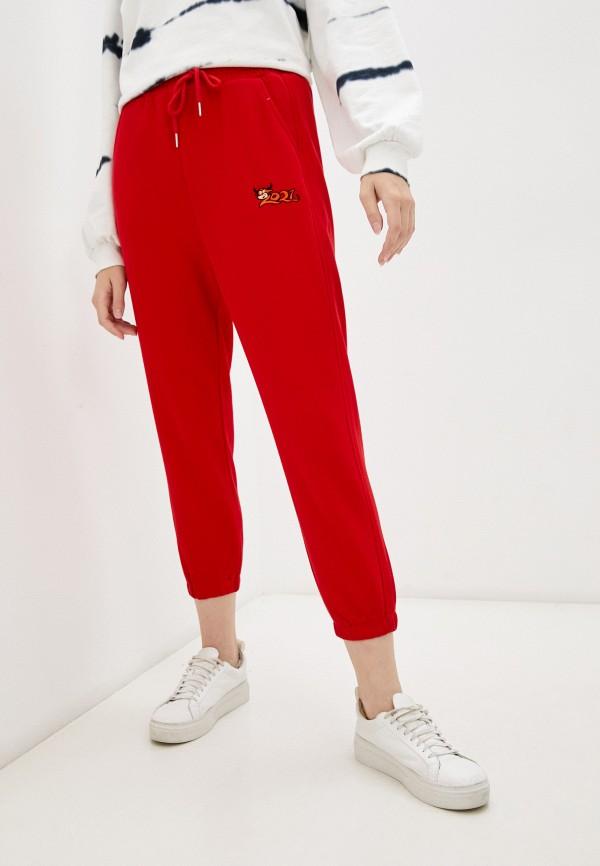 женские спортивные брюки moki, красные