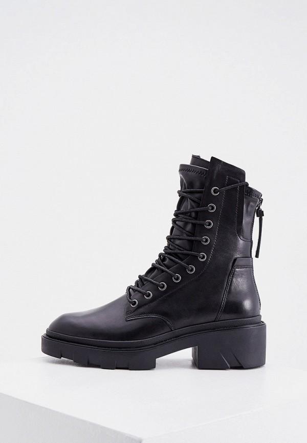 женские высокие ботинки ash, черные
