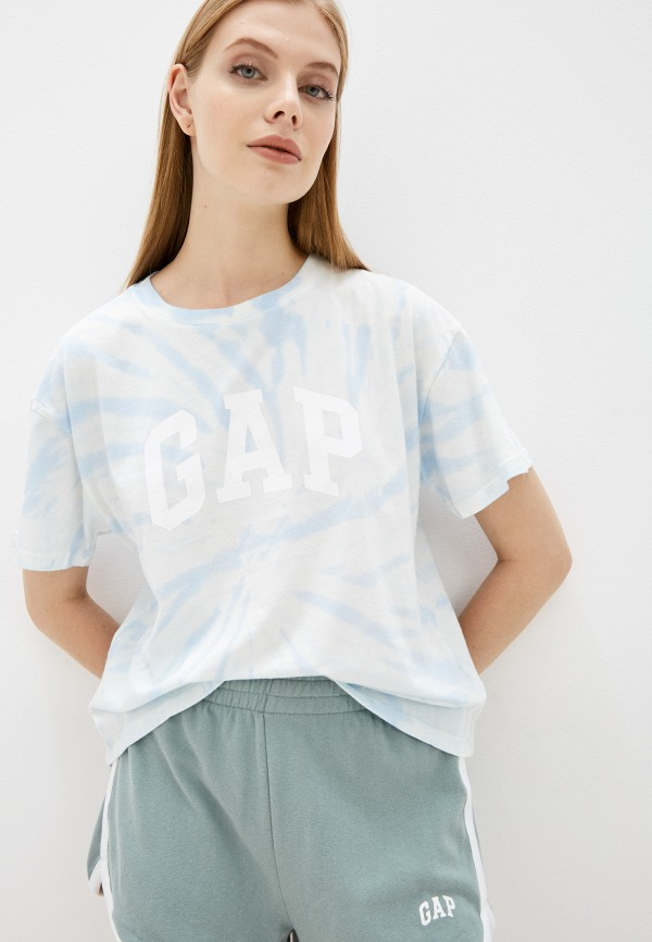 женская футболка gap, голубая