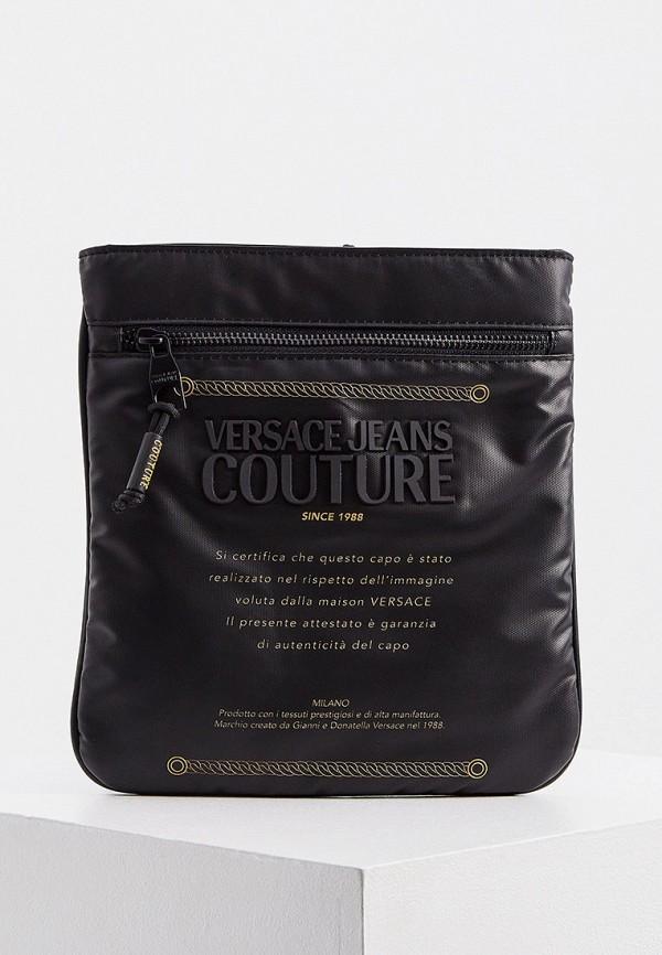 мужская сумка versace, черная