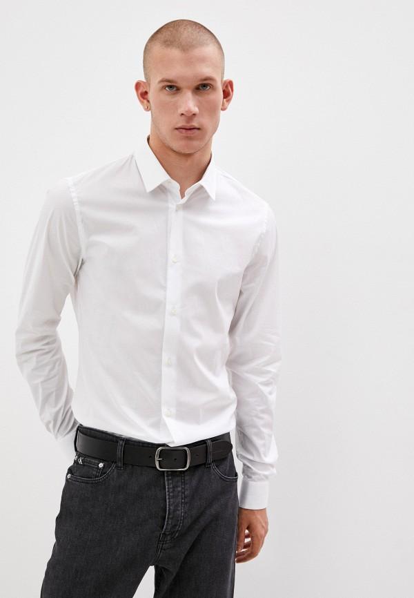 мужская рубашка с длинным рукавом trussardi, белая
