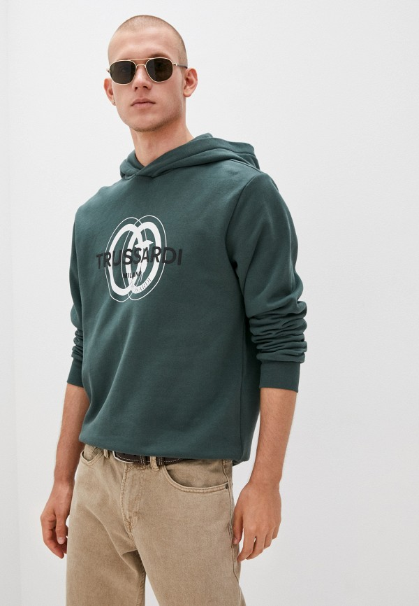 мужские худи trussardi, зеленые
