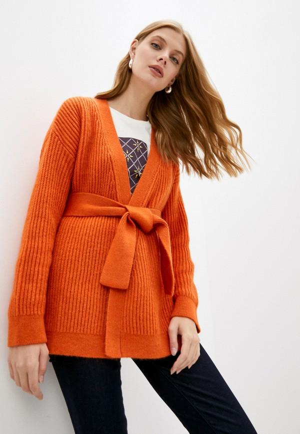 женский кардиган trussardi, оранжевый