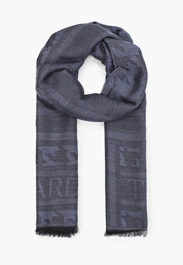 мужской шарф trussardi, синий