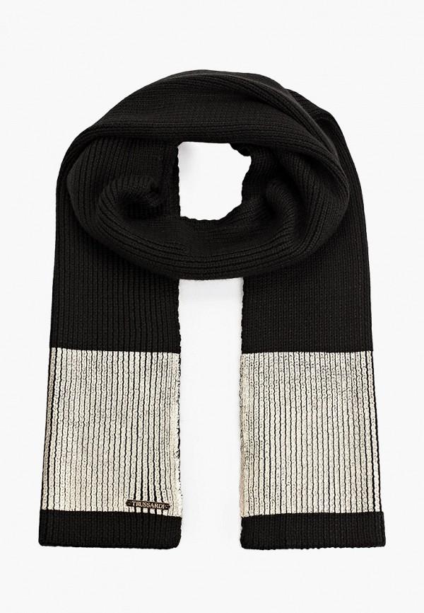 женский шарф trussardi, черный