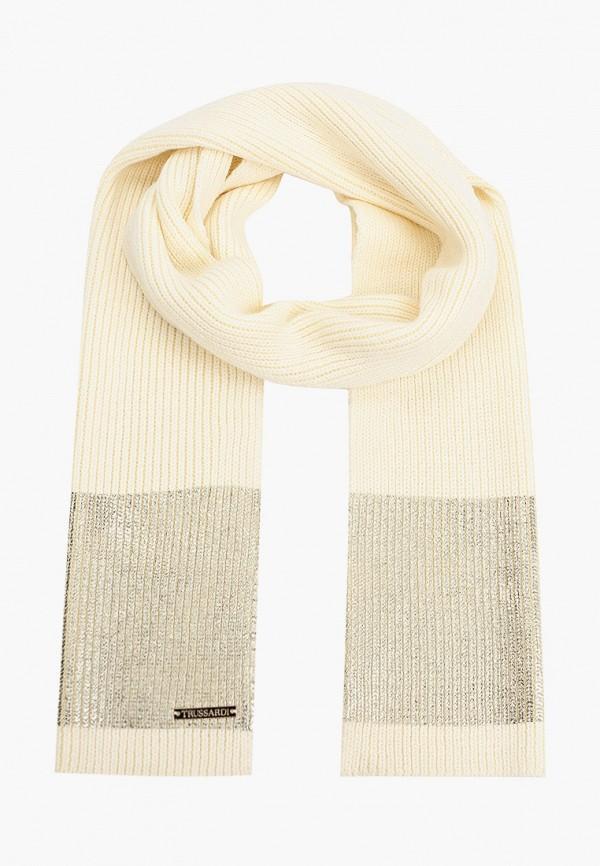 женский шарф trussardi, бежевый