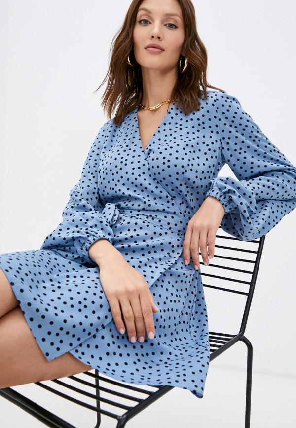 женское платье с запахом trendyangel, голубое