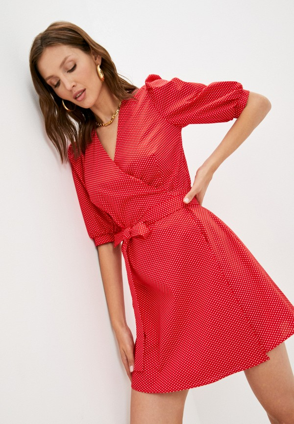 женское платье с запахом trendyangel, красное