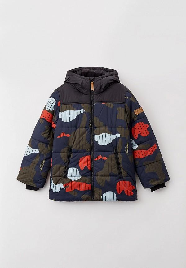 утепленные куртка button blue для мальчика, разноцветная