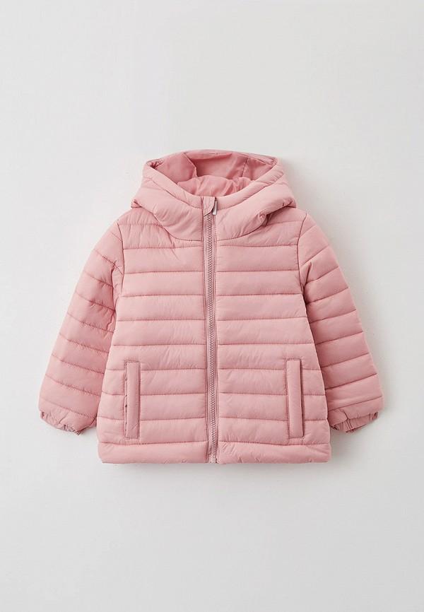 утепленные куртка button blue для девочки, розовая