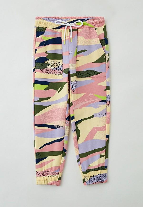 спортивные брюки button blue для девочки, разноцветные