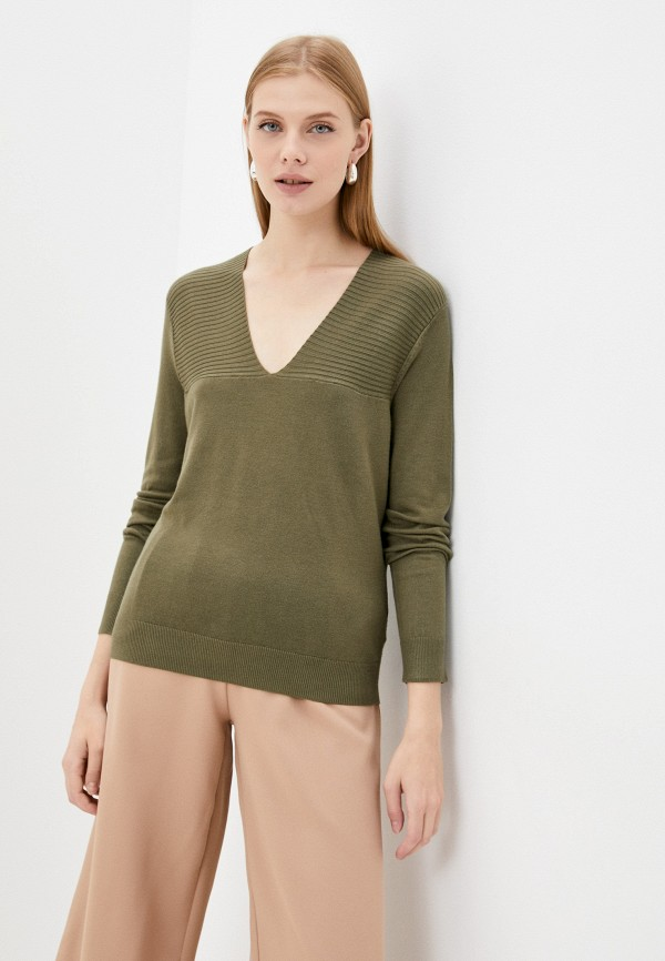 женский пуловер ichi, хаки