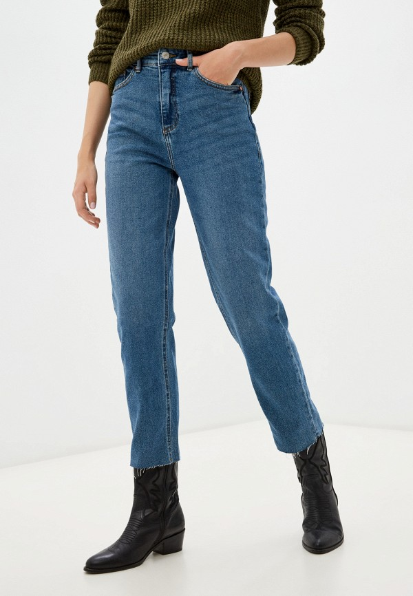 женские джинсы бойфренд b.young, синие
