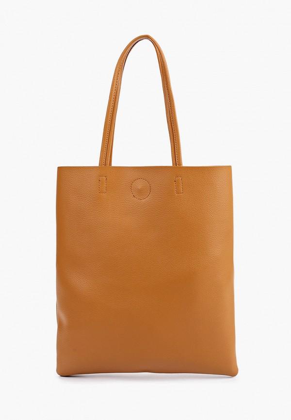 женская сумка-шоперы baggini, коричневая
