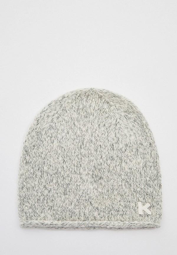 женская шапка kenzo, серая