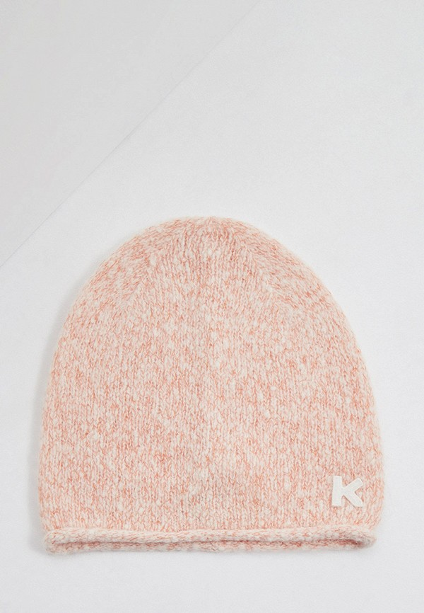 женская шапка kenzo, розовая