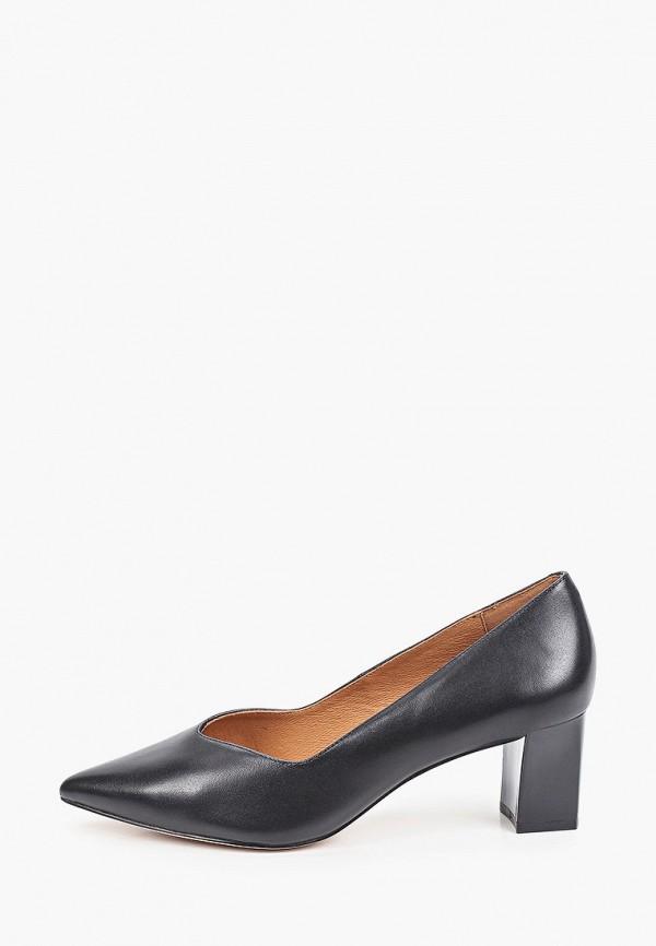 женские туфли с закрытым носом caprice, черные