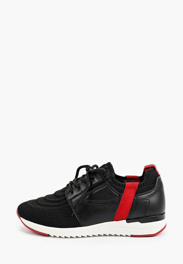 женские низкие кроссовки caprice, черные