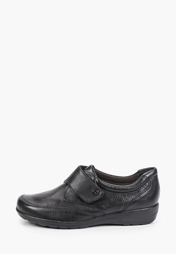 женские низкие ботинки caprice, черные