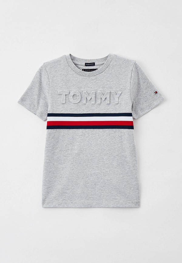 Футболка Tommy Hilfiger серого цвета