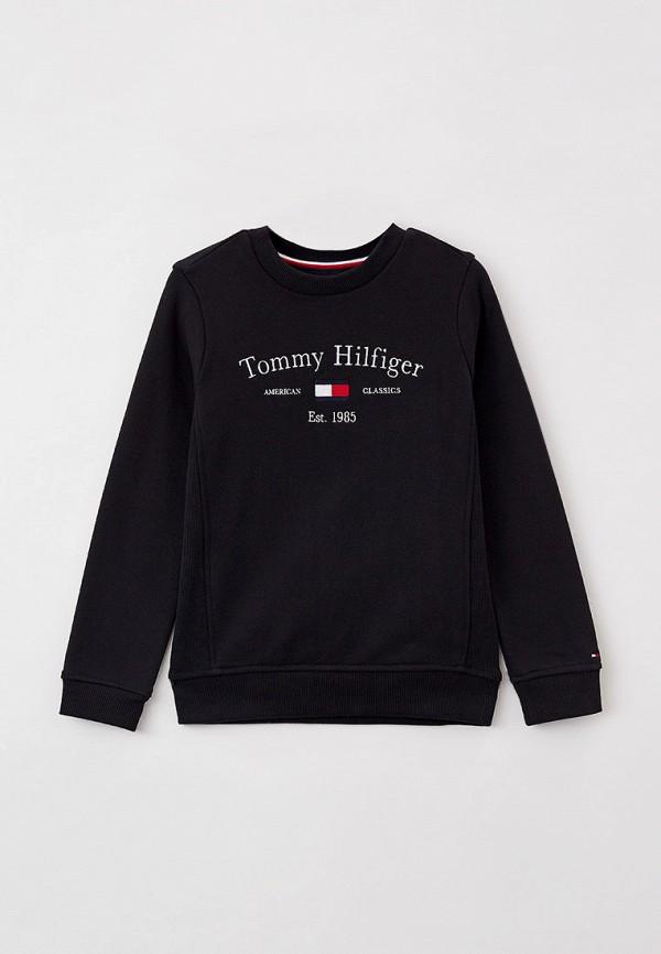 Свитшот Tommy Hilfiger черного цвета