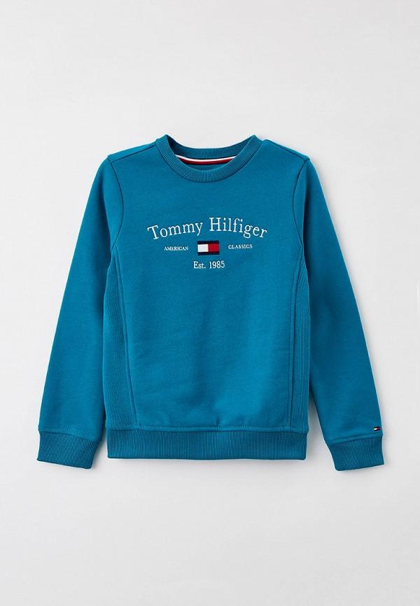 Свитшот Tommy Hilfiger бирюзового цвета
