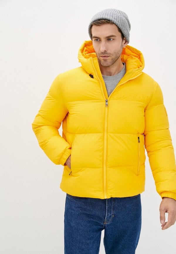 Куртка утепленная Tommy Hilfiger желтого цвета