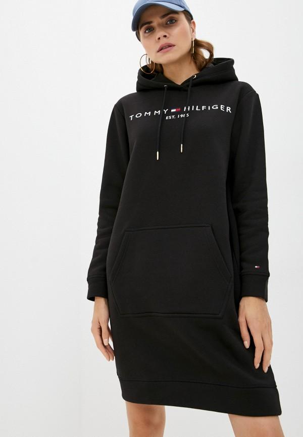 Платье Tommy Hilfiger черного цвета