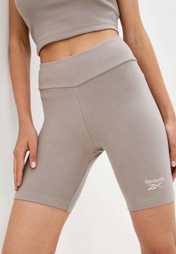 женские спортивные шорты reebok classic, серые
