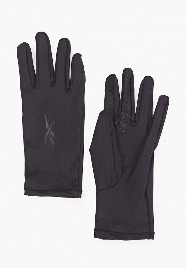 женские текстильные перчатки reebok, черные