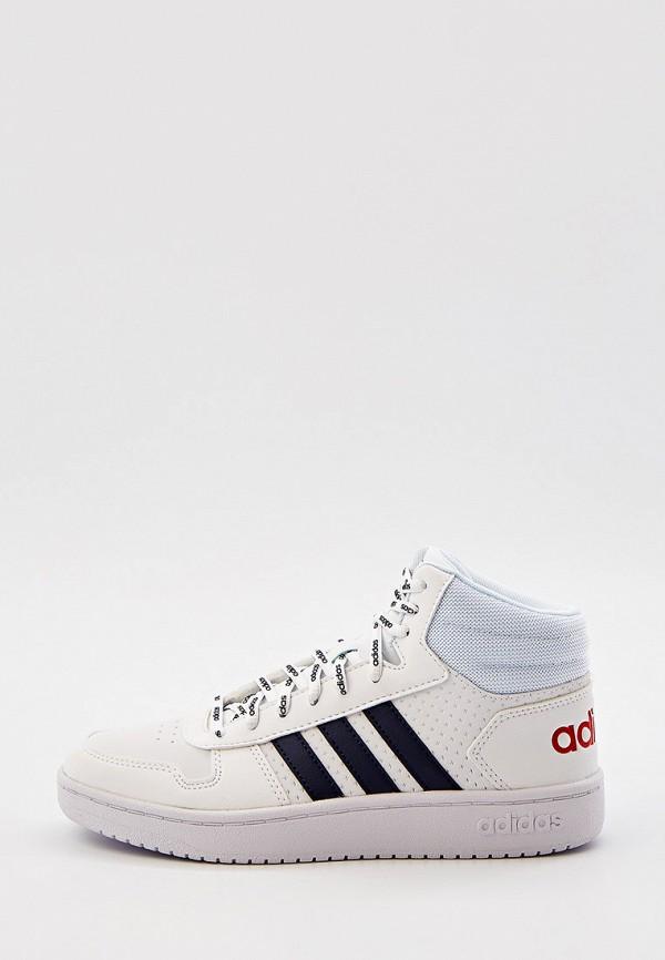 мужские высокие кеды adidas, белые
