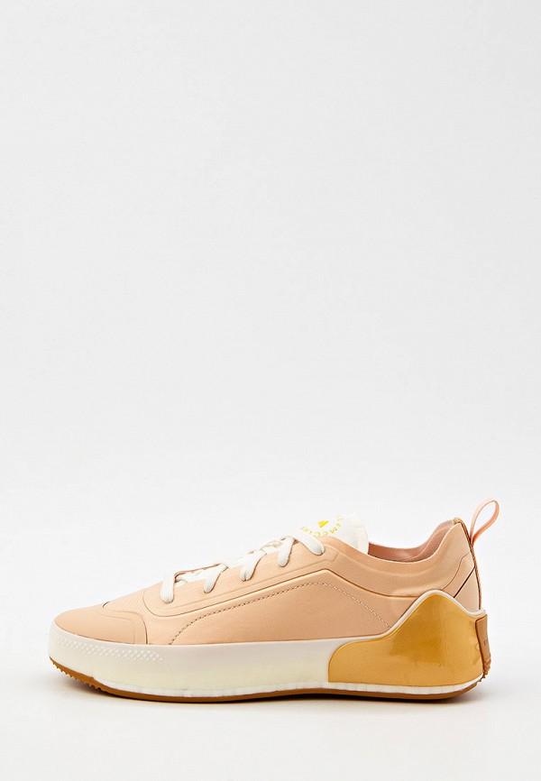 женские низкие кроссовки adidas by stella mccartney, бежевые