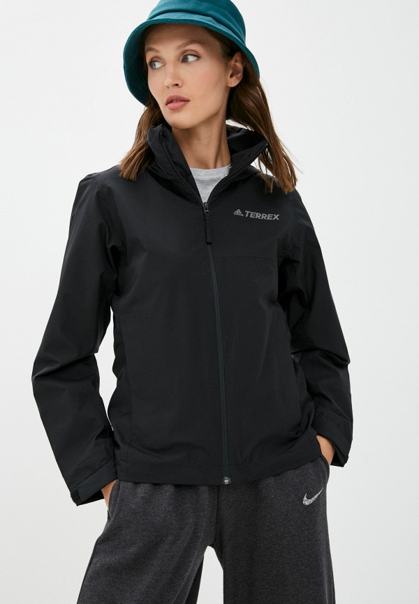 женская ветровка adidas, черная