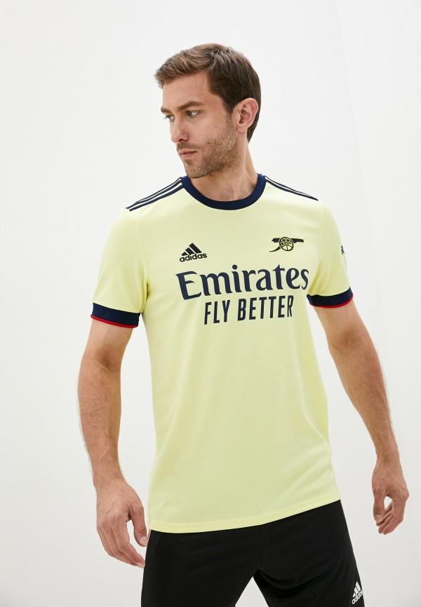 мужская спортивные футболка adidas, желтая