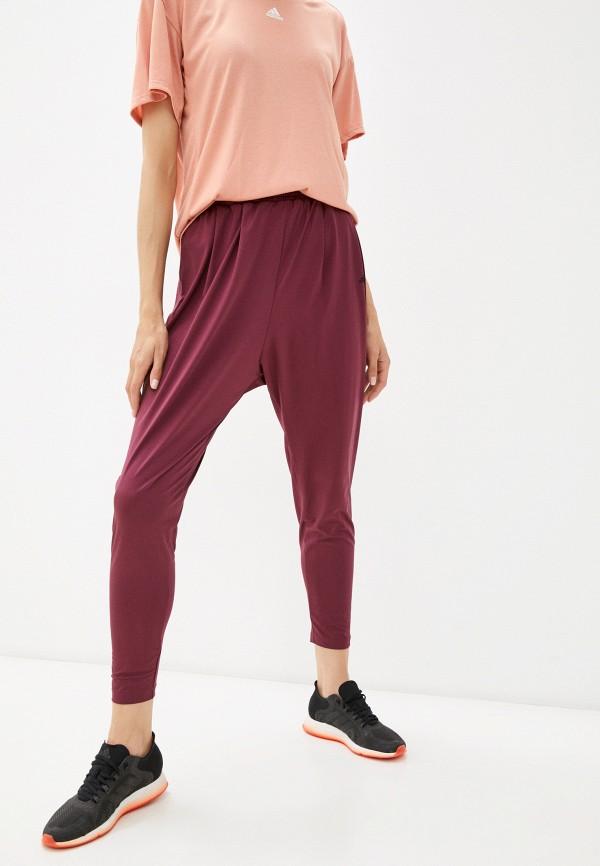 женские спортивные брюки adidas, бордовые