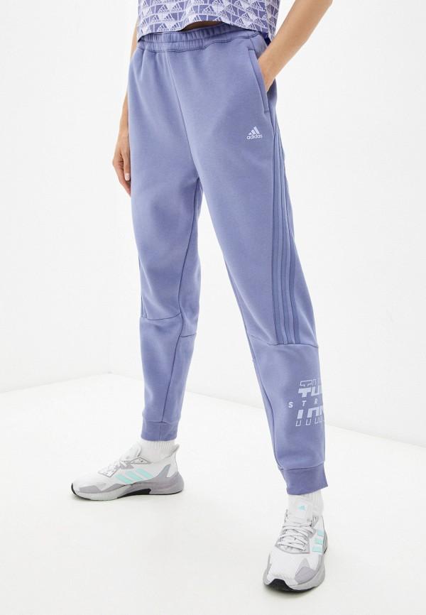 женские спортивные брюки adidas, синие