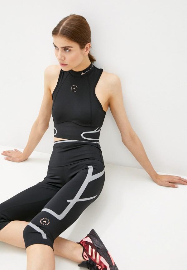 женский спортивный костюм adidas by stella mccartney, черный