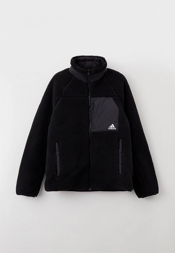 женская спортивные куртка adidas, черная