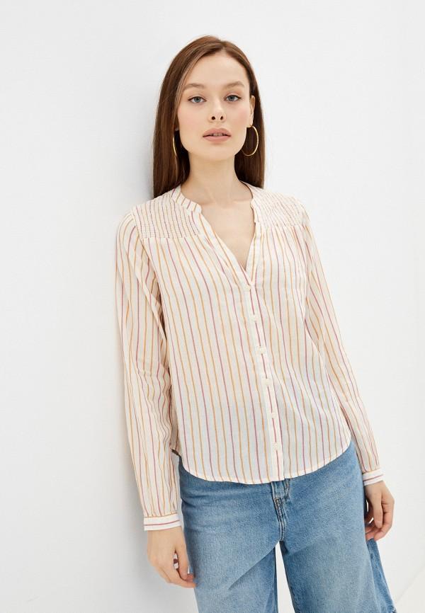 женская блузка с длинным рукавом springfield, разноцветная