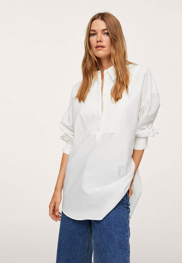 Блуза Mango белого цвета