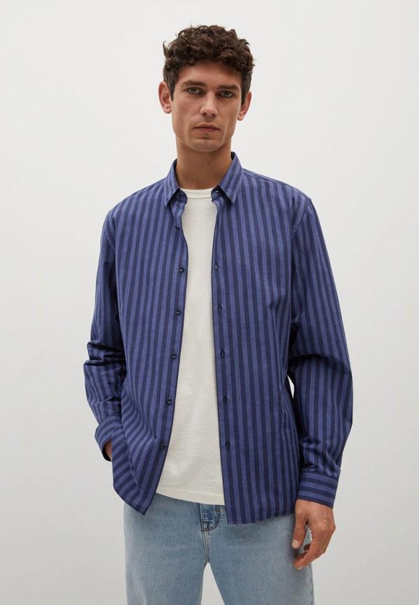Рубашка Mango Man синего цвета
