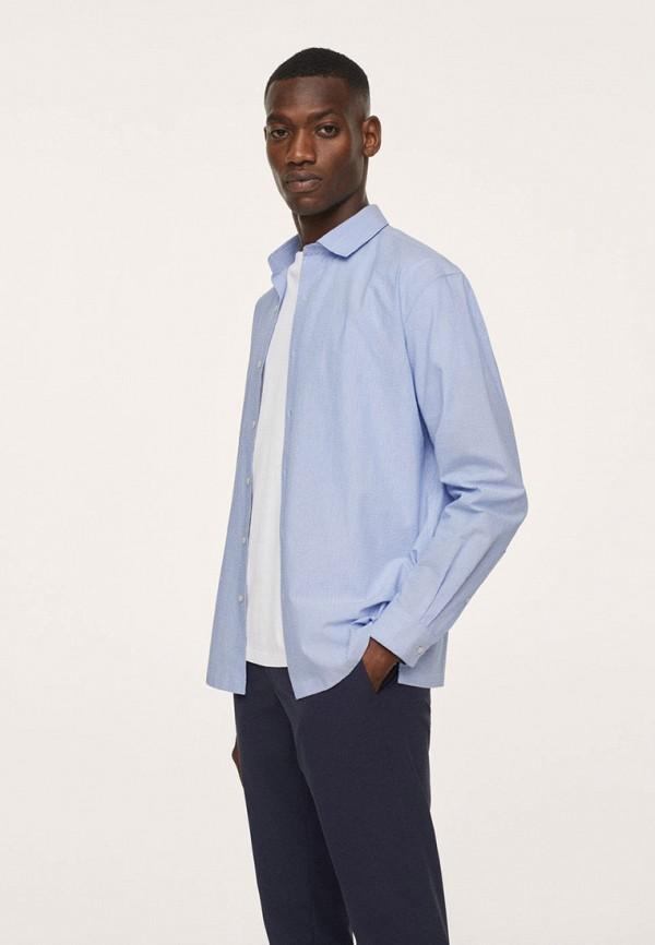 Рубашка Mango Man голубого цвета