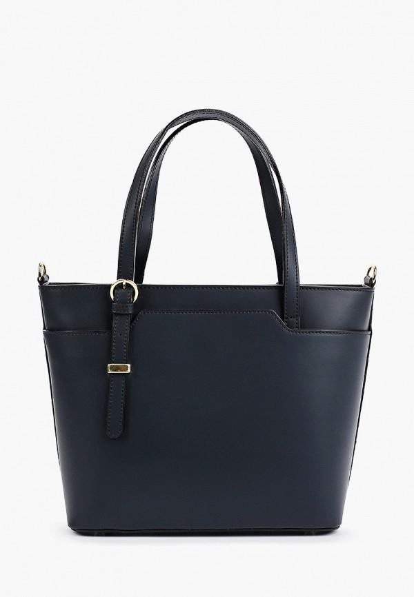 женская сумка с ручками roberta rossi, синяя