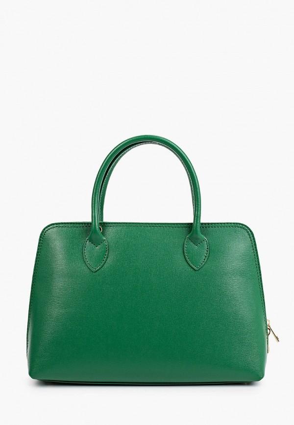 женская сумка с ручками roberta rossi, зеленая
