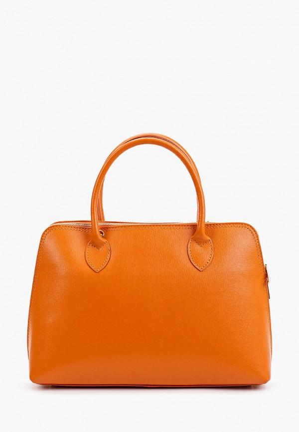 женская сумка с ручками roberta rossi, оранжевая