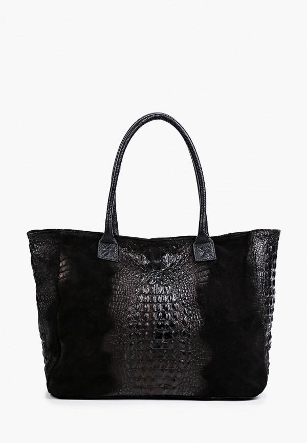 женская сумка с ручками roberta rossi, черная